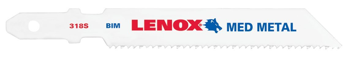 Lenox Tools 20816B318S T-Shank Bi-Metal Medium Metal Jig Saw Blade, 3-5/8-Inch x 3/8-Inch x 18 TPI, 25-Pack by Lenox Tools