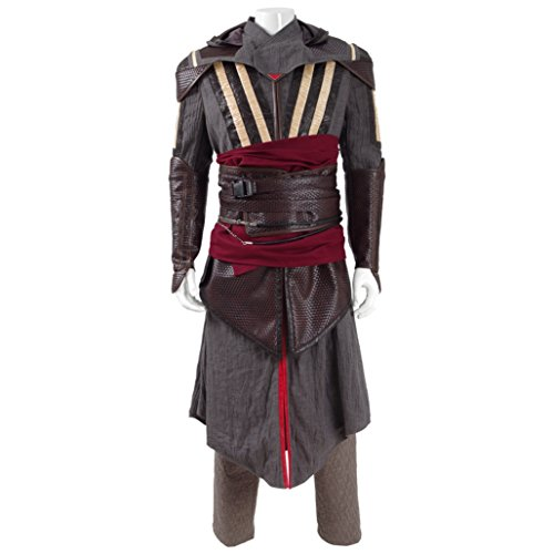 Costumes Leather Work Custom (Men And Women Medieval Assassin Aguilar Costumes for Halloween Costumes Full)