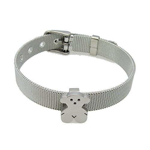 G&T Fashion Small Bear Watch Strap Bracelet Jewelry Cute Bear Stainless Steel Bracelet(C3) (Simple Homemade Frog Costume)