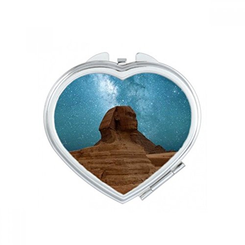 DIYthinker Blue Sky Red Earth Mummy Heart Compact Makeup Pocket Mirror Portable Cute Small Hand Mirrors -