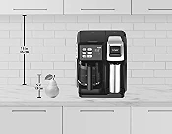 Hamilton Beach (49976) Coffee Maker, Single Serve & Full Coffee Pot, For Use With K Cups Or Ground Coffee, Programmable, Flexbrew 1