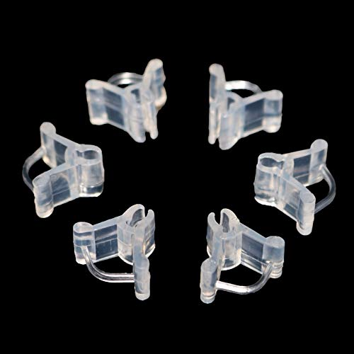 40pcs Garden Flower Plant Vine Seedlings Grafted Branches Clip Connector Fasteners Plastic Clips Garden Migration Tool