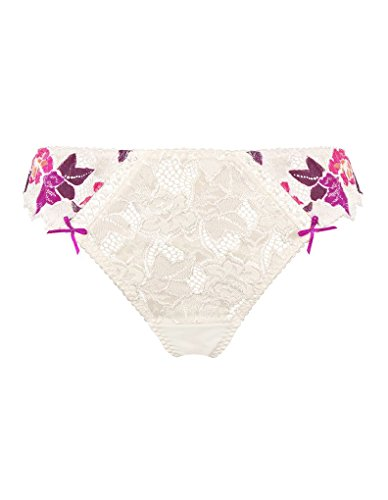 Sans Complexe 319492 Women's Arum Irresistible White and Purple Lace Knicker Panty Tanga