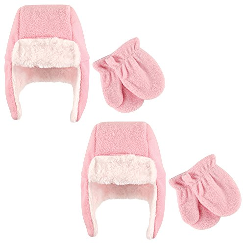 m Toddler Hat and Mitten Set, Light Pink, 3T ()