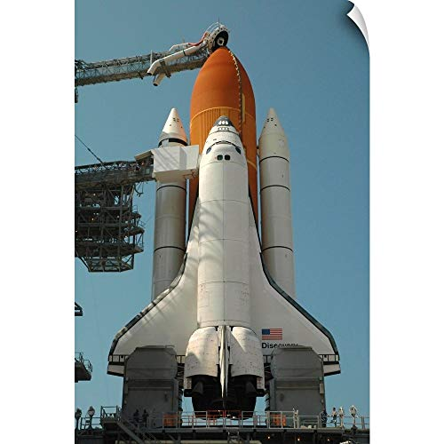 CANVAS ON DEMAND Space Shuttle Discovery in Full Launch Configuration Wall Peel Art Print, 12