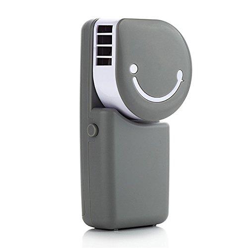 SunyixinNiuB Mini Ventilador, Mini Ventilador, Cargador de Exterior, hogar de Oficina Portátil, Gris Plateado