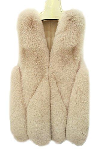 di Arancione donne cappotto di inverno pelliccia FOLOBE della del faux del delle Womens Rivestimento qfxRP7O