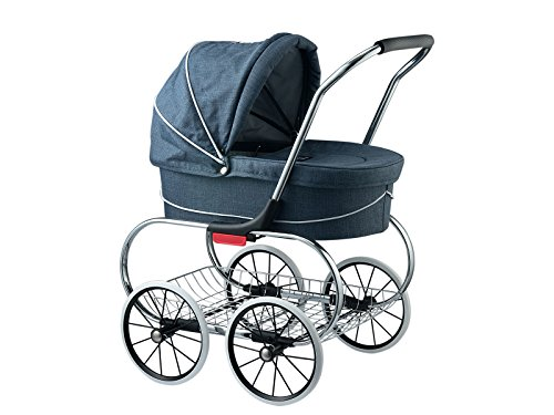 Classic Bassinet Doll Stroller by Valco Baby (Denim Blue)