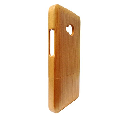 Handcrafted Cherry Wood 100% Natural Wood Case HTC One M7 Wood Cover Skin for HTC One M7 Wood Cases Skin -