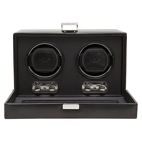 WOLF 270102 Heritage Double Watch Winder with Cover, Black by WOLF (Image #1)