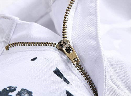 Dritta Jeans Vintage lannister Ragazzo Uomo Con color A Bianca Cuciture waist81cm Size Gamba Stampata Casual Qk Skinny In Stretch Bandiera 32 Denim Pantaloni Da fxwOwq
