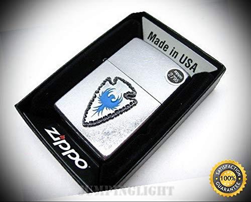 Street Chrome Arrowhead Emblem with Blue Bird Windproof Lighter 29101 - Premium Lighter Fluid (Comes Unfilled) - Made in USA!