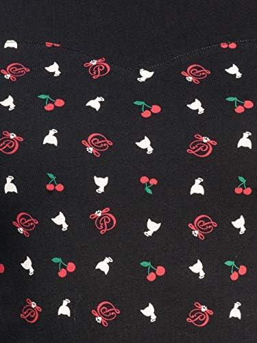 Pussy Deluxe White Kitten Basic Girl Shirt Black Allover, kolor: czarny , rozmiar: s: Odzież