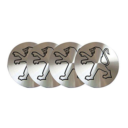 4pcs C038 56.5mm Car Styling Accessories Emblem Badge Sticker Wheel Hub Caps Centre Cover PEUGEOT 206 207 307 301 308 408 508 3008
