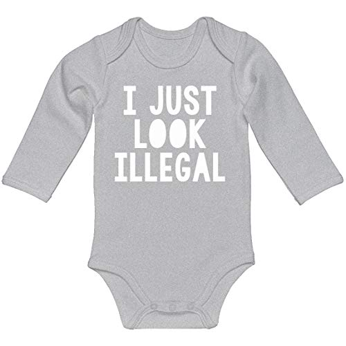 Baby Romper I just Look Illegal Heather Grey for Newborn Long-Sleeve Infant Bodysuit]()