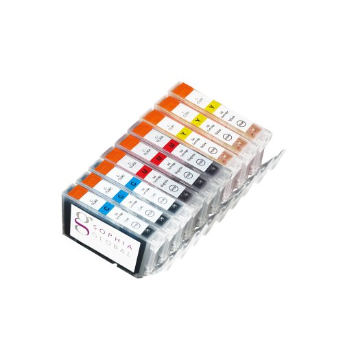 Sophia Global Compatible Ink Cartridge Replacement for Canon CLI-8 (3 Cyan, 3 Magenta, and 3 Yellow)