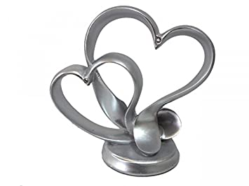 Heart Cake Topper Silver Wedding Table Decoration Wedding Amazon Co