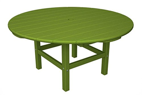 Recycled Earth-Friendly Outdoor Patio Conversation Table - Electric Lime Green