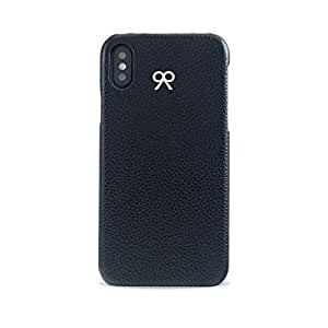 iPhone X Case in Black Grained Leather