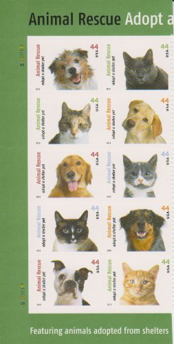 Commemorative Pane (Pane of 10 Commemorative Stamps; 2010 Animal Rescue 44 cents)
