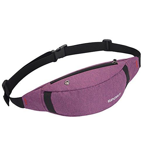 Inner Pocket - HYXRF Fanny Pack Zipper Pockets Waist Bag for Outdoors Hiking Running Cycling