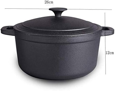 DYXYH Double Cast poignée de fer Casserole, multi-usages Casserole, lave-vaisselle antiadhésive