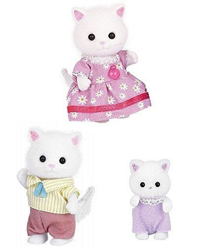 3 conjuntos de Sylvanian Families - Gatos persas - Padre, madre y bebé: Amazon.es: Juguetes y juegos