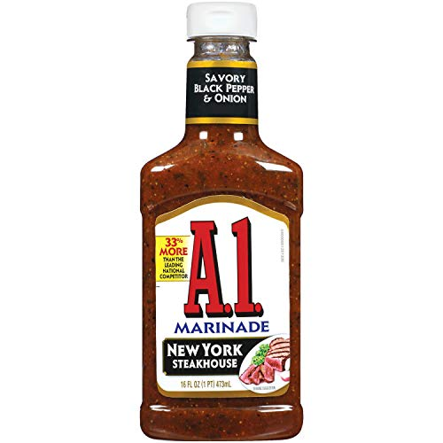 A.1. Steakhouse New York Marinade, 16 oz Bottle (Pack of 6)