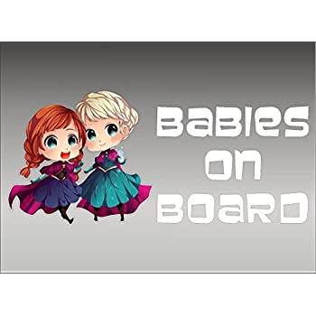 6 Disney Frozen Personalised Baby On Board Car Sign