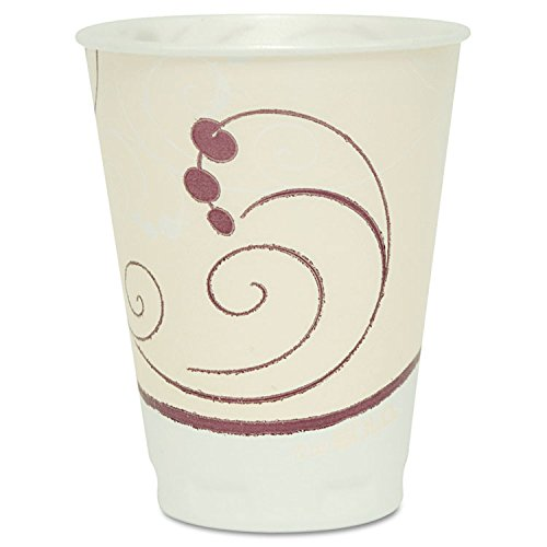 Symphony Design Trophy Foam Hot/Cold Drink Cups, 12oz, Beige, -