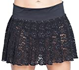Pleated Mini Skirt Black Lace. Junior Size Womens. Sexy Style!