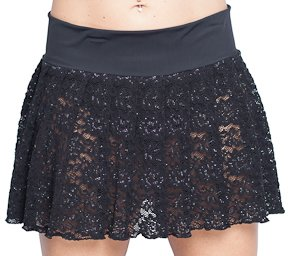 Pleated Mini Skirt, Plus Size Black Lace. Sexy Style! at Amazon ...