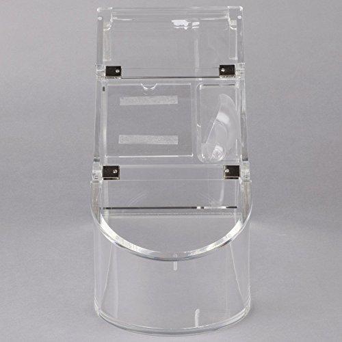 TableTop King GD126 Bulkshop 13.3 Liter Clear Acrylic Scoop Bin with Scoop by TableTop King