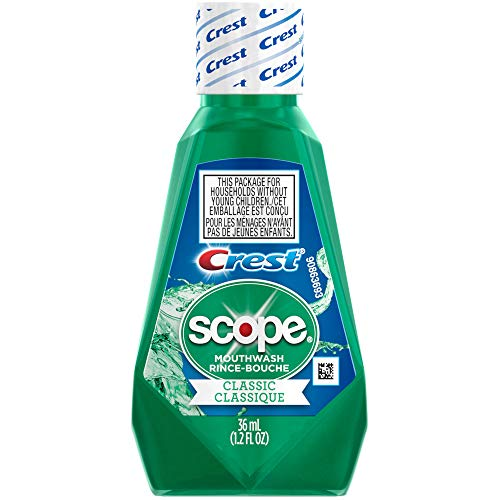 Scope Mouthwash, Classic Mint, Travel Size, 1.2 Ounces each Value Pack Of 48