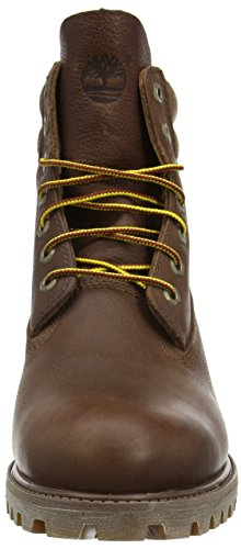 Fg Timberland Men's B in Brown Double Brown Boots With Collar Canvas 6 zXr7zxgS
