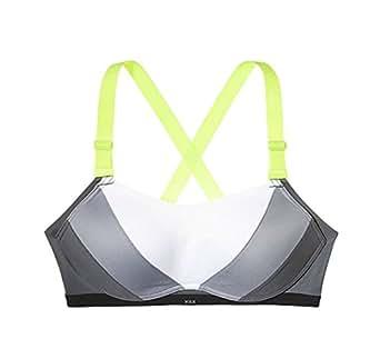 Victoria's Secret The Ultimate Sports Bra 36C Gray White Colorblock