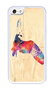 Apple Iphone 5C Case,WENJORS Cute Its a hoot Soft Case Protective Shell Cell Phone Cover For Apple Iphone 5C - TPU White by icecream design
