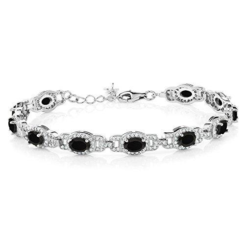 Oval Black Onyx Stone Bracelet - 4