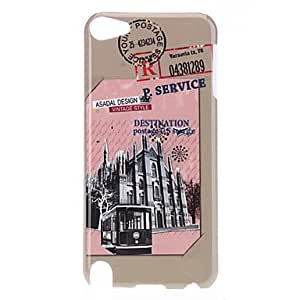 Retro Style Construction Pattern Protective Hard Case for iPod Touch 5