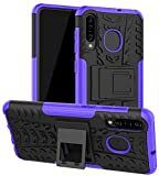 Galaxy A50 Case, Galaxy A30 Case, Galaxy A20 Case, Yiakeng Shockproof Slim Protective with Kickstand Hard Phone Cover for Samsung Galaxy A50/A30/A20 (Purple)