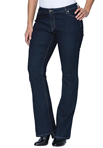 Jessica London Women's Plus Size Petite Bootcut Jeans – 12 Plus, Indigo