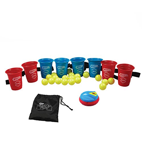 Wham-O STAY 'N PLAY Pong Man Variety Game Sets, 4.2 x 12 x 8 inches, red, blue, yellow by Wham-O