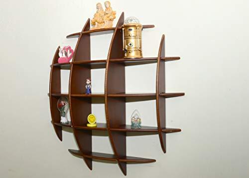 AAYU Handicrafts, Wooden Decorative Floating Wall Shelf