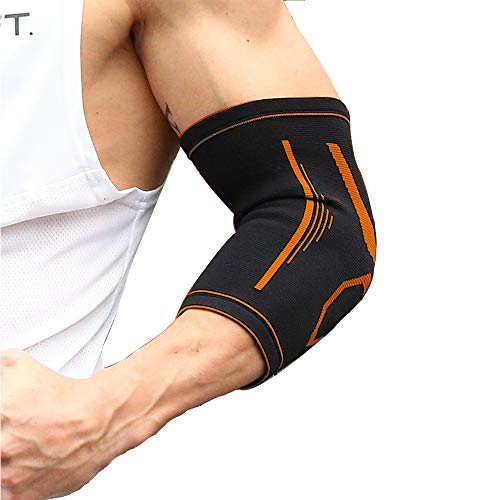 V-MONIE Elbow Brace Compression Sleeve (1 Pair) - Support for Tendonitis Prevention & Recovery