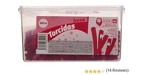 King Regal Torcida Fresa - estuche 200 unidades: Amazon.es: Alimentación y bebidas