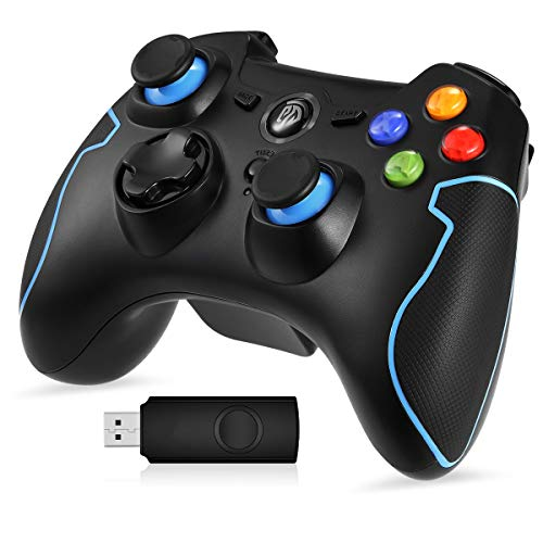 EasySMX PS3 Gaming Controller 2.4G Gamepads Vibration Fire B...