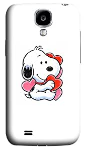 Snoopy In Love Polycarbonate Hard Back Case Cover for Samsung Galaxy S4 SIV I9500