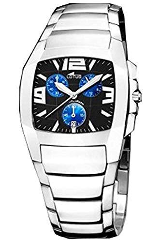 Lotus Shiny Mens Analog Quartz Watch with Stainless Steel Bracelet 15313/D