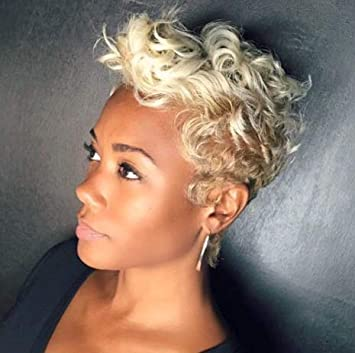 Beisd Short Curly Hair Wig Curly Pixie Cut Synthetic Wigs For Black White Women Short Curly White Hairstyles For Women