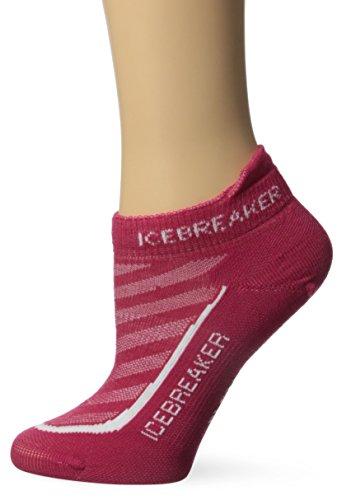 Icebreaker Women's Run+ Ultra Light Micro Socks, Cherub/White, Medium